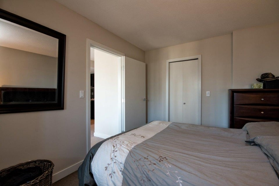 Master bedroom with large walk in closet